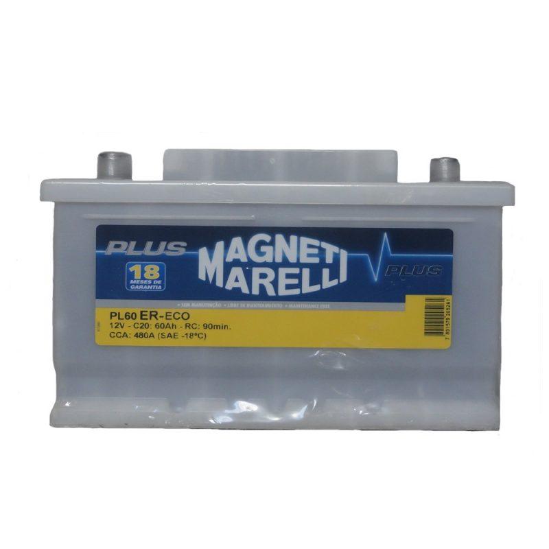 Bateria Automotiva Selada Magneti Marelli 60 amperes Direita