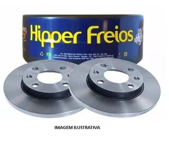 Par de Disco de Freio Hipper Freios HF51F